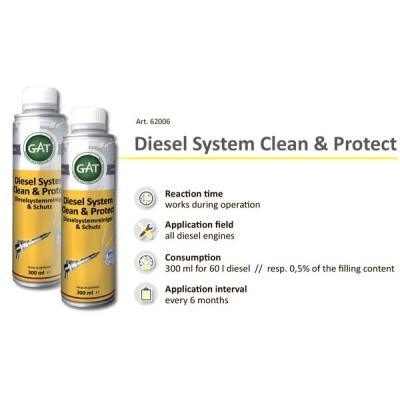 Очиститель дизельной системы - Diesel System Clean & Protect GAT